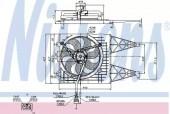 Nissens 85249 Вентилятор охлаждения двигателя