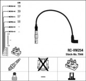 Ngk 7044 Комплект высоковольтных проводов