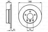 Bosch 0 986 478 561 Тормозной диск задний BMW E36/46