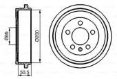 Bosch 0 986 477 133 Тормозной барабан SKODA Fabia, VW Polo 00- (200*50.5)