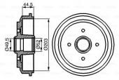 Bosch 0 986 477 149 Тормозной барабан