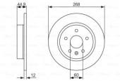 Bosch 0 986 479 645 Тормозной диск
