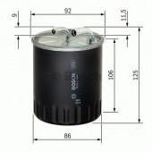 Bosch 1457434437 фильтр топливный