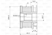 Valeo 588016 Обгонная муфта генератора