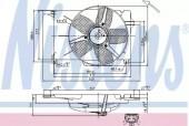 Nissens 85005 Вентилятор радиатора