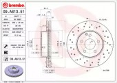Brembo 09.A613.51 Тормозной диск