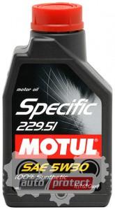 Фото 1 - Motul SPECIFIC 229.51 SAE 5W-30 Синтетическое моторное масло