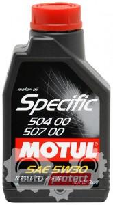Фото 1 - Motul SPECIFIC 504.00-507.00 SAE 5W-30 Синтетическое моторное масло