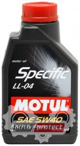 Фото 1 - Motul SPECIFIC LL-04 SAE 5W-40 Синтетическое моторное масло