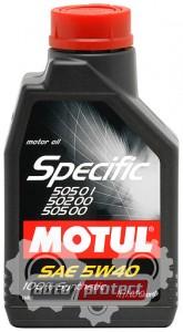 Фото 1 - Motul SPECIFIC VW 505.01-502.00-505.00 SAE 5W-40 Синтетическое моторное масло