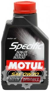 Фото 1 - Motul SPECIFIC VW 506.01-506.00-503.00 SAE 0W-30 Синтетическое моторное масло