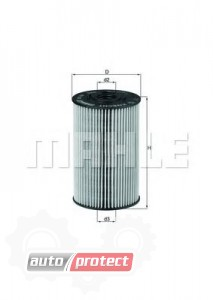 Фото 1 - MAHLE OX 150D масляный фильтр