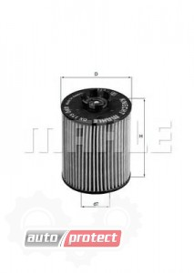 Фото 1 - MAHLE OX 173D масляный фильтр