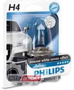 Фото 1 - Philips WhiteVision H4 12V 60/55W Автолампа галогенная, 1шт 1