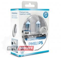 Фото 1 - Philips WhiteVision H4 12V 60/55W Автолампа галоген, 2шт 1