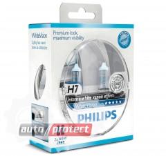 Фото 1 - Philips WhiteVision H7 12V 55W Автолампа галогенная, 2шт