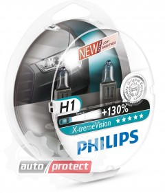 Фото 1 - Philips X-TreamVision H1 12V 55W Автолампа галоген, 2шт 1