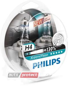 Фото 1 - Philips X-tremeVision H4 12V 60/55W Автолампа галоген, 2шт