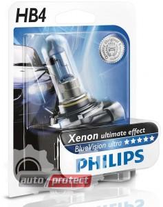 Фото 1 - Philips BlueVision Ultra HB4 12V 55W Автолампа галоген, 1шт