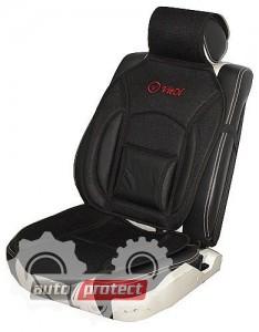 Фото 4 - Vitol MF 1007/CN 12527 BK Накидка на сиденье черная, 1шт