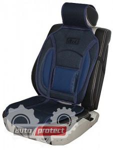 Фото 1 - Vitol CN 12527 BK/BL Накидка на сиденье черно-синяя, 1шт