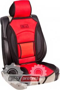 Фото 1 - Vitol CN 12527 BK/RD Накидка на сиденье черно-красная, 1шт