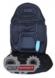 Фото 2 - Vitol M 96029 BK Накидка на сиденье с подогревом, массажером, пульт, черная 1шт