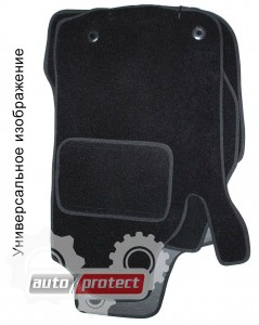Фото 1 - EMC Elegant Коврики в салон для Mazda 6 с 2008 текстильные черные 5шт
