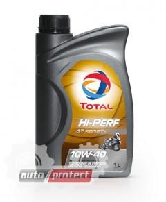 Фото 1 - Total Hi-Perf 4T Sport 10W-40 Синтетическое масло 4Т двигателей для мототехники Hi-Perf 4T Sport 10W-40