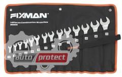 Фото 1 - Fixman Набор ключей комбинированных, 14шт,  8-24 мм