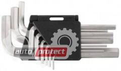 Фото 1 - InterTool Набор Г-образных шестигранных ключей 9шт, 1,5-10мм