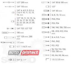 "Фото 2 - InterTool ROJ-ET-6094 Набор инструментов, 94 предмета, 1/2"", 1/4"""