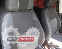 Фото 1 - EMC Elegant Premium Авточехлы для салона Hyundai Accent с 2010г, цельная задняя спинка