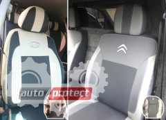Фото 3 - EMC Elegant Premium Авточехлы для салона Volkswagen Caddy (1+1) с 2010г