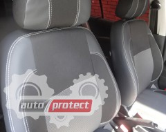 Фото 1 - EMC Elegant Premium Авточехлы для салона Volkswagen Polo V хетчбек с 2009г, цельный задний ряд