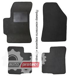 Фото 1 - Carrera Стандарт коврики в салон для Chevrolet LANOS текстильные, черные 4шт