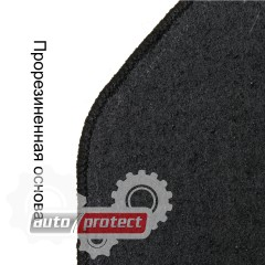 Фото 5 - Carrera Стандарт коврики в салон для Hyundai Elantra 2006- текстильные, черные 4шт