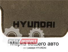 Фото 2 - Carrera Стандарт коврики в салон для Hyundai Sonata V 2004-2010 текстильные, черные 4шт