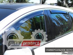 Фото 2 - Heko Дефлекторы окон  Chevrolet Aveo II 2006-2011 Седан, клеящиеся чёрные 4шт