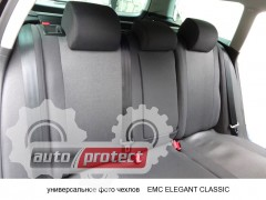 Фото 3 - EMC Elegant Classic Авточехлы для салона Hyundai Accent с 2011г, цельный задний ряд