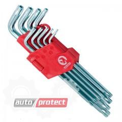 Фото 1 - InterTool Набор ключей Г-образных, звёздочка, 9шт, 10-50мм
