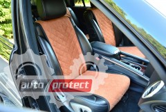 Фото 1 - Аvторитет Накидка на переднее сиденье, коричневая, 2шт