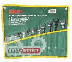 Фото 1 - King Roy Набор ключей рожково-накидных 12шт, 6-22мм, чехол