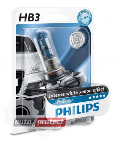 Фото 1 - Philips WhiteVision HB3 12V 60W Автолампа галоген, 1шт 1