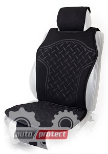 Фото 1 - Vitol FD102070 BK Накидка на сиденье черная, 1шт
