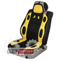 Фото 1 - Vitol F 19002 YL/BK Накидка на сиденье желто-черная, 1шт 1