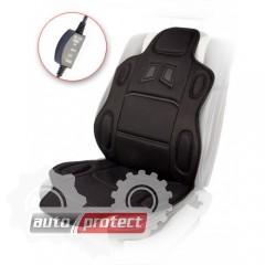 Фото 1 - Vitol H 19002 BK Накидка на сиденье с подогревом пульт, черная 1шт