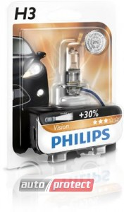 Фото 2 - Philips Vision H3 12V 55W Автолампа галоген, 1шт 1