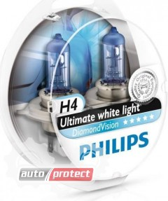 Фото 1 - Philips DiamondVision H4 12V 60/55W Автолампа галоген, 2шт 1