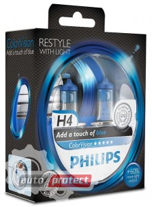���� 1 - Philips ColorVision H4 12V 60/55W ��������� �������, 2�� 1